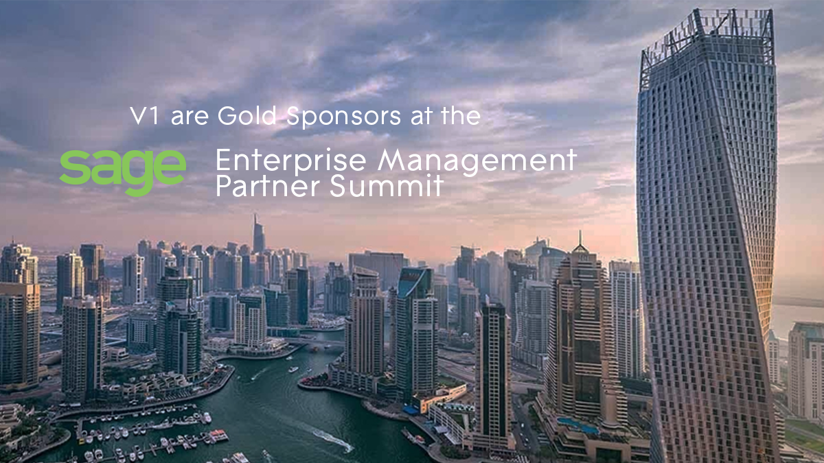 V1 are Gold Sponsors at the Sage Enterprise Management Partner Summit