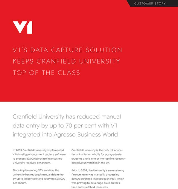 Document management software systems document imaging software v1s data capture solution keeps cranfield university top of the class fandeluxe Gallery